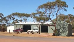 a view of the Beacon Mens Shed from the road