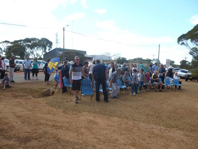 Attendees setting up at the ANZAC Service in 2011
