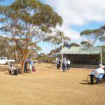 ANZAC day service in Beacon Western Australia