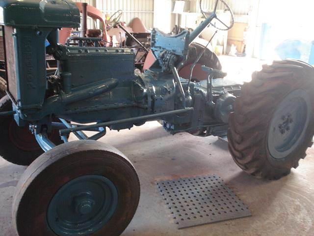 close up side view of Fordson Tractor during restoration