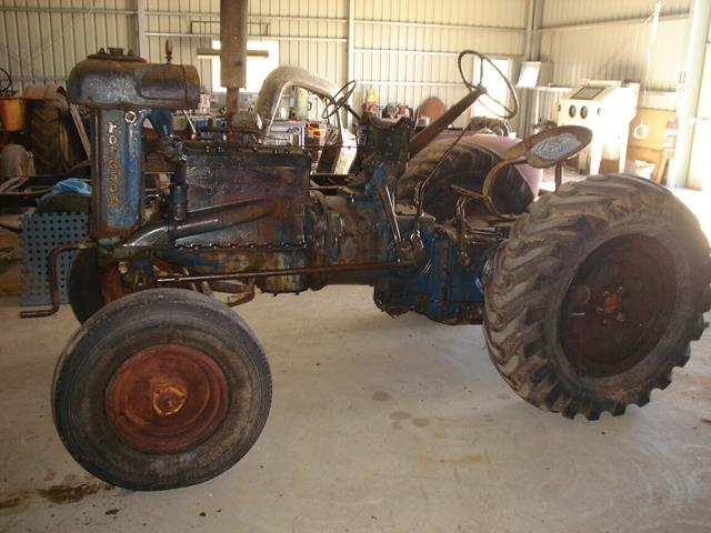 side view of part-restored Fordson Tractor