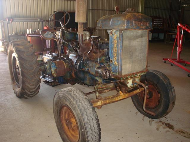 Fordson Tractor with some panels removed during restoration project