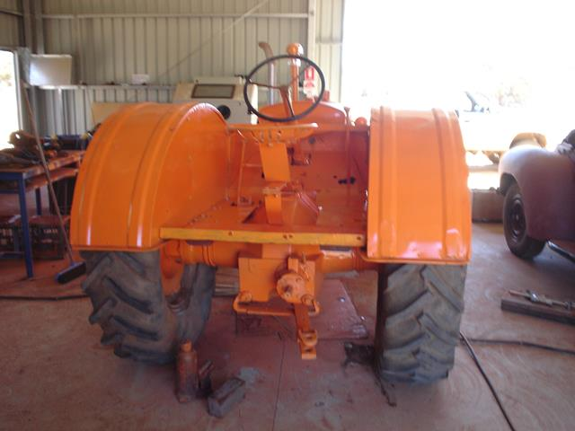 rear view of restored Allis Chalmers tractor