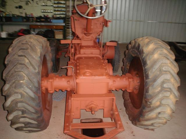 view of drive section on the Allis Chalmers tractor