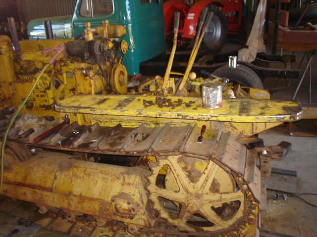 Side view of the unrestored Holt Caterpillar