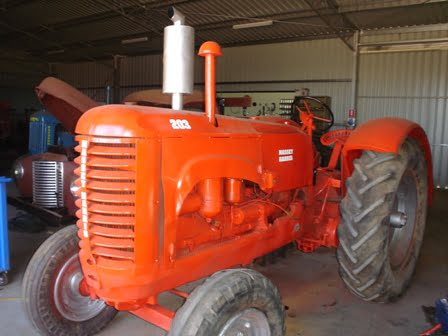 front view of Massey Harris tractor restored to like brand new