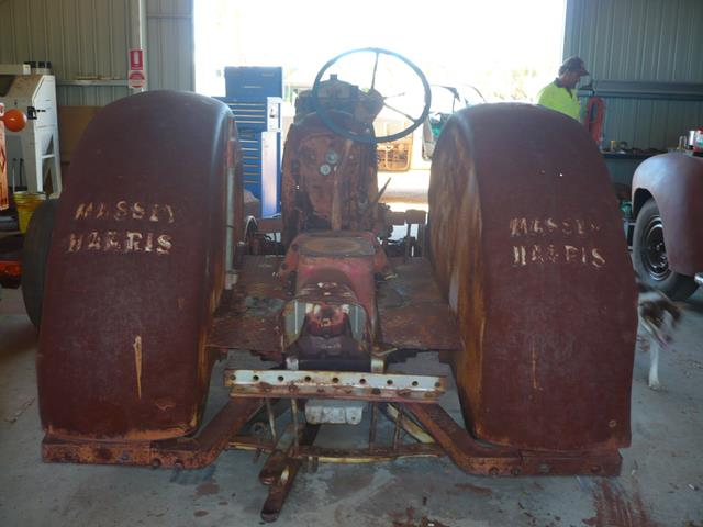 rusted out and in poor condition before work started on the Massey Harris tractor Restoration