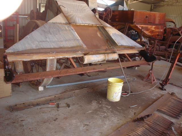 The restored base section of the Sunshine Harvester