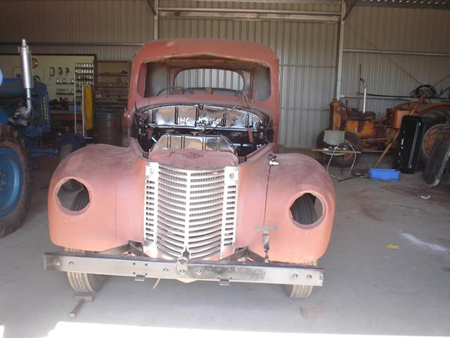 front view of International Truck during restoration
