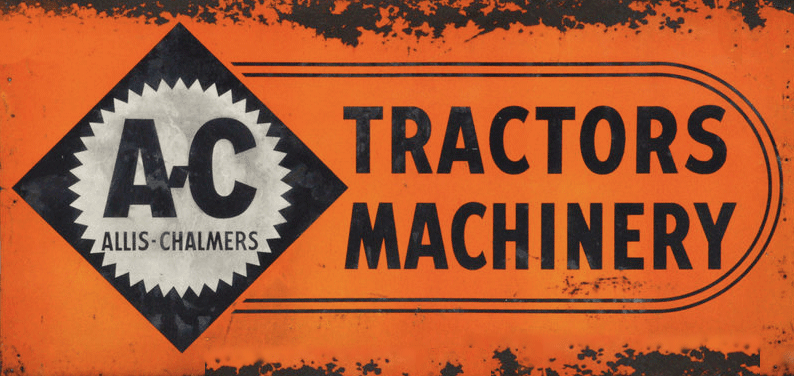 Allis-Chalmers vintage shop banner