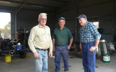 Volunteers Bruce, Ray and John at the Beacon Mens Shed