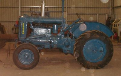 Restored Fordson Tractor new teal colour paint